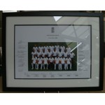England v South Africa 2008 Test Squad Official Photograph Personally Signed By England Team