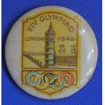 Scarce Original 1948 London Olympics Badge