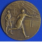 Fine Pinches of London Tennis Medal c1920