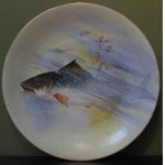 Limoges Hand Painted Fish Porcelain Plate
