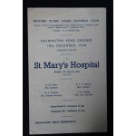 Rare Bedford v St Mary's Hosipital 18th Dec 1948