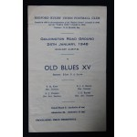 Rare Bedford v Old Blues XV 24th Jan 1948