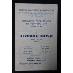 Rare Bedford v London Irish 5th Oct 1946