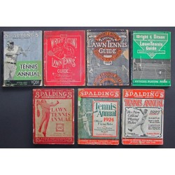 "Seven Early Spalding American ""Lawn Tennis"" Annuals inc Rare 1915 Annual"