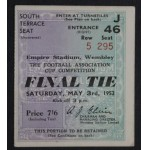 1952 FA Cup Final Ticket Newcastle v Arsenal