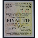 1955 FA Cup Final Ticket Newcastle v Man City