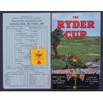 ***SOLD*** 1957 Ryder Cup Programme, Draw Sheet & Entry Ticket