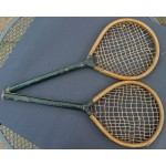 A Pair of One Piece Play Rackets c1860