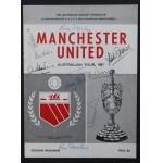 Scarce Man Utd Signed Australian Tour Prog 1967 Signed By Charlton, Stiles, Law, etc