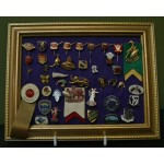Superb Collection 40 Stick Pins & Badges 70's & 80's **SOLD**