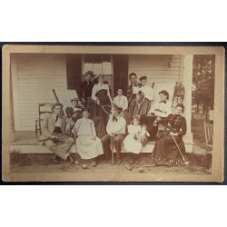 American Family Photograph c1900 With Rackets & Croquet