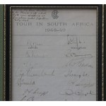 Signed Official MCC Team Tour Sheet South Africa 1948/49 **SOLD**