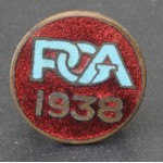 Rare 1938 PGA Enamel Player's Badge