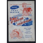 Great Britain v Australasia Second Test Match 1956