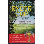 1961 Ryder Cup Programme