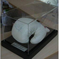 George Foreman & Nigel Benn Personally Signed Title Glove