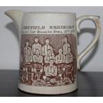 "Rare ""Sheffield Wednesday English Cup Winners 1896"" Pottery Jug"