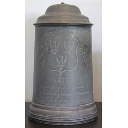 Early Queens College Oxford Scratch Fours Watts & Harton Tankard 1857 ***SOLD***