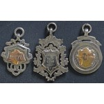 Three Solid Silver & Gold Newburgh GC Medals 1920's