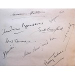 Nine Scarce Tennis Autographs 1930's Inc Crawford, Cochet, Boussus, Jacobs & Nuthall **SOLD**