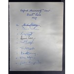 Rare Signatures of Oxford University Winning Boat Race Crew 1937