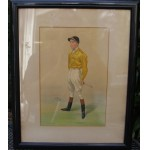 Scarce. Original The World Magazine Jockey Print - Herbert Randal by Spy
